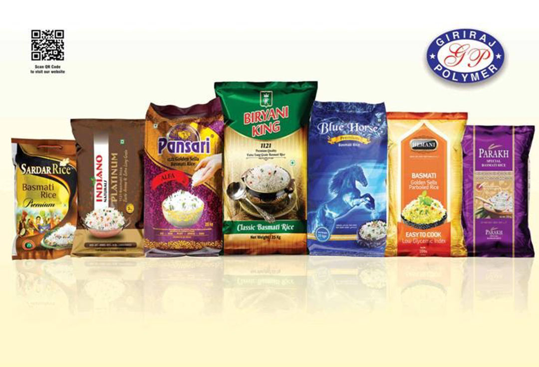 Giriraj Bopp Laminated Bags For Rice Packaging Are Designed And Manufactured Keeping Needs Of Industry In Mind Made From Virgin Pp Put Through A